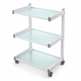 CRYSTAL WHITE TABLE with WHEELS