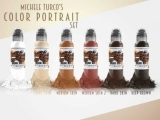 MICHELE TURCO PORTRAIT SET 6x30ml by WORLD FAMOUS TATTOO INK