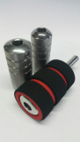 FOAM COVER GRIP for 21MM 20PCS BOX (BLACK WITH RED)