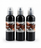CHARCOAL GREYWASH SET 3x120ml by WORLD FAMOUS TATTOO INK