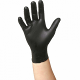 GLOVES NITRILE BLACK SMALL 100 pcs box